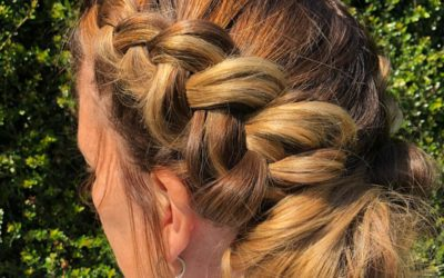 Relaxed dutch braid.